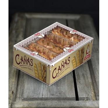 Cañas Chocolate-Crema Estuche 15 un. 1.100 g.